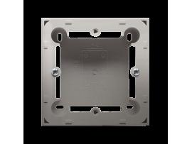 Krabica pre povrchovú montáž 1- násobná saténový, metalizovaný