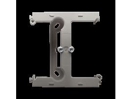 Krabica pre povrchovú montáž  - element rozširujúci jednotuchú krabicu pre viacnásobné rámčeky saténový, metalizovaný