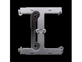 Krabica pre povrchovú montáž  - element rozširujúci jednotuchú krabicu pre viacnásobné rámčeky nerez, metalizovaný