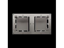 Krabica pre povrchovú montáž 2- násobná saténový, metalizovaný