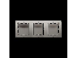 Krabica pre povrchovú montáž 3- násobná saténový, metalizovaný