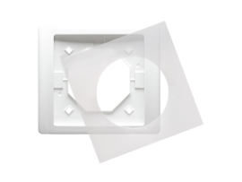 Rámček 1 - násobný IP44 biela