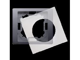 Rámček 1 - násobný IP44 strieborná matná
