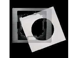 Rámček 1 - násobný IP44 titánový, metalizovaný