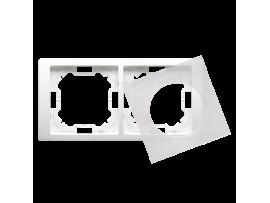 Rámček 2 - násobný IP44 biela