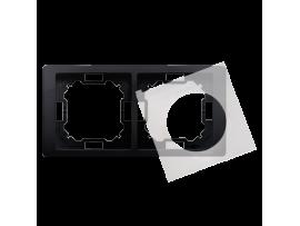 Rámček 2 - násobný IP44 grafitový, metalizovaný