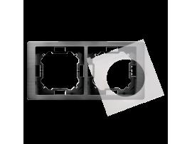 Rámček 2 - násobný IP44 titánový, hydrografika