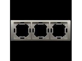 Rámček 3- násobný saténový, metalizovaný