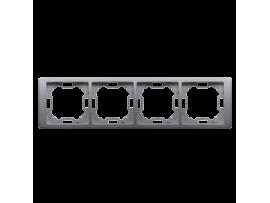 Rámček 4- násobný nerez, metalizovaný
