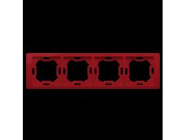 Rámček 4- násobný rubínový, metalizovaný
