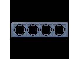 Rámček 4- násobný levanduľový, metalizovaný