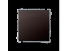 Striedavý prepínač, radenie č. 6 bez piktogramu (prístroj s krytom) 10AX 250V, pružinové svorky, čokoládový mat. metalizovaný