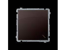 Striedavý prepínač, radenie č. 6 (prístroj s krytom) 10AX 250V, pružinové svorky, čokoládový mat. metalizovaný