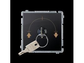 Spínač na kľúčik žalúziový (tlačidlo) (prístroj s krytom) 5A 250V, pre spájkovanie, grafit mat. metalizovaný