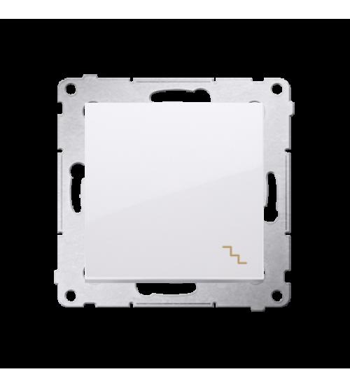 Striedavý prepínač, radenie č. 6 (prístroj s krytom) 16AX 250V, skrutkové svorky, biela