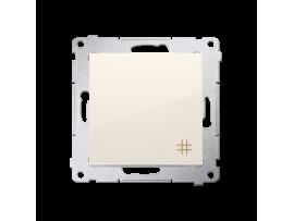 Krížový prepínač, radenie č. 7 (prístroj s krytom) 10AX 250V, pružinové svorky, krémová
