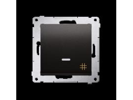Krížovy spínač s orientačným podsvietením LED, radenie č. 7 So (prístroj s krytom) 10AX 250V, pružinové svorky, antracitová