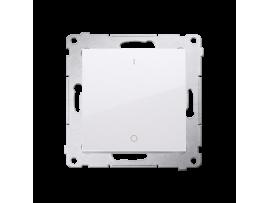 Dvojpólový spínač, radenie č. 2S (prístroj s krytom) 10AX 250V, pružinové svorky, biela