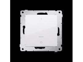 Dvojpólový spínač s orientačným podsvietením LED (prístroj s krytom) 10AX 250V, pružinové svorky, biela