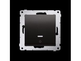 Dvojpólový spínač s orientačným podsvietením LED (prístroj s krytom) 10AX 250V, pružinové svorky, antracitová