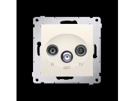 Anténna zásuvka R-TV-SAT koncová/zakončená tlm.:1dB krémová