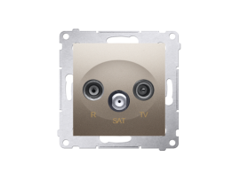 Anténna zásuvka R-TV-SAT koncová/zakončená tlm.:1dB zlatá matná