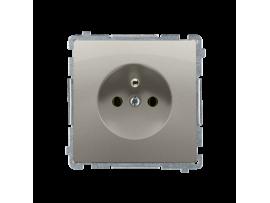 Jedno zásuvka s uzemnením saténový, metalizovaný 16A