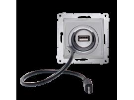 STIAHNUTÝ Z PONUKY - do vypredania zásob USB a microUSB nabíjačka strieborná matná