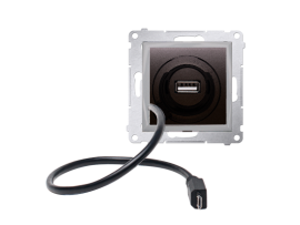 STIAHNUTÝ Z PONUKY - do vypredania zásob USB a microUSB nabíjačka antracitová