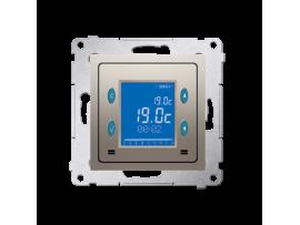 STIAHNUTÝ Z PONUKY Termostat s displejom (vnútorný senzor) zlatá matná