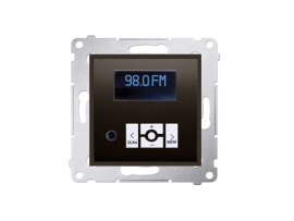 Digitálne rádio s displejom hnedá matná
