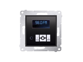 Digitálne rádio s displejom antracitová