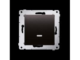 Krížovy spínač s orientačným podsvietením LED, radenie č. 7 So bez piktogramu (prístroj s krytom) 10AX 250V, pružinové svorky, antracitová