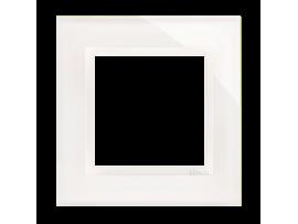 Rámček 1 - násobný sklenený perlová/biela