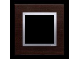 Rámček 1 - násobný drevený Wenge/striebro