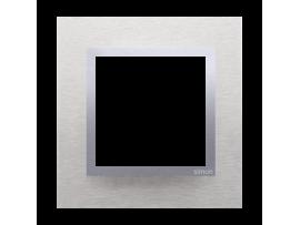 Rámček 1 - násobný kovový Svetlý nerez/striebro