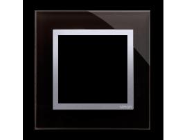 Rámček 1 - násobný sklenený Lávová/striebro
