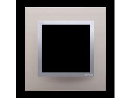 Rámček 1 - násobný kovový Saténová/striebro