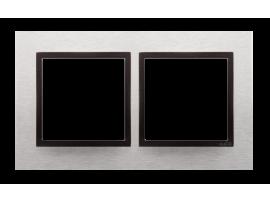 Rámček 2- násobný kovový Svetlý nerez/antracit