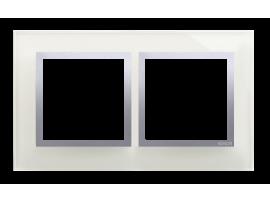 Rámček 2- násobný sklenený búrková/striebro