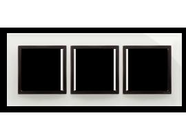 Rámček 3 - násobný sklenený Búrková/antracit