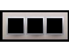 Rámček 3- násobný kovový Saténová/striebro