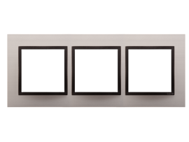 Rámček 3- násobný kovový Saténová/antracit