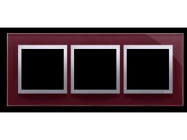 Rámček 3 - násobný sklenený slivková
