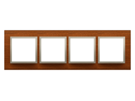 Rámček 4 - násobný drevený Orech/zlato