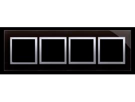 Rámček 4 - násobný sklenený Lávová/striebro