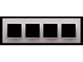 Rámček 4- násobný kovový Saténová/striebro