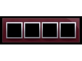 Rámček 4 - násobný sklenený slivková