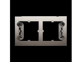 Krabica pre povrchovú montáž 2- násobná zlatá matná