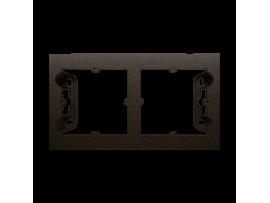 Krabica pre povrchovú montáž 2- násobná hnedá matná